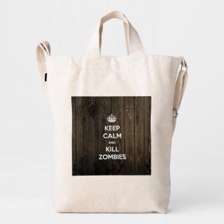 Keep calm and kill zombies duck bag