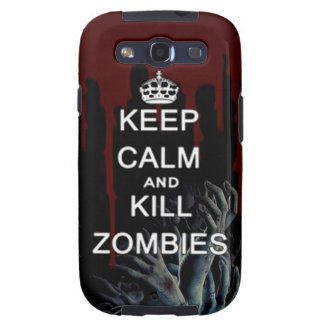 keep calm and kill zombies galaxy phone case samsung galaxy s3 cover