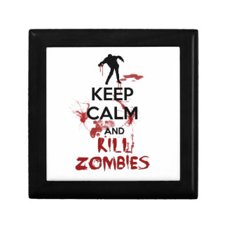 Keep Calm and Kill Zombies Jewelry Box