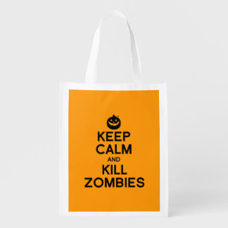 KEEP CALM AND KILL ZOMBIES - Halloween -.png Market Totes