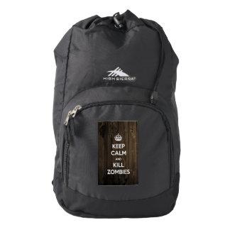 Keep calm and kill zombies high sierra backpack