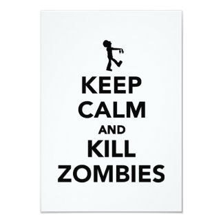 Keep calm and kill zombies custom invitation