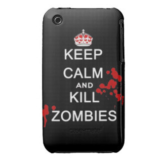 keep calm and kill zombies iPhone 3 Case-Mate case