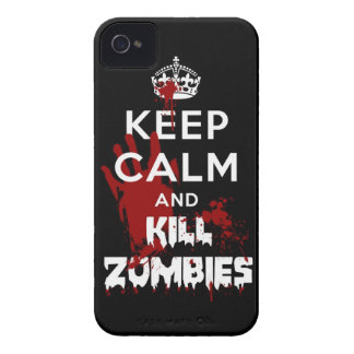 Keep Calm And Kill Zombies iPhone 4 4S Black Case