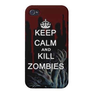 keep calm and kill zombies iPhone 4/4S case