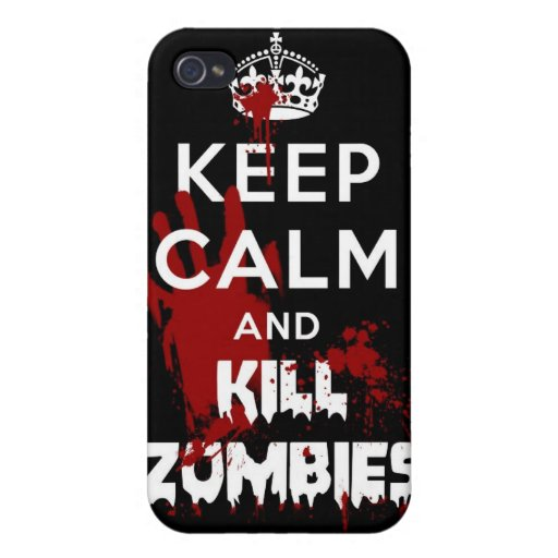 Keep Calm And Kill Zombies iphone 4 4S Case Cases For iPhone 4