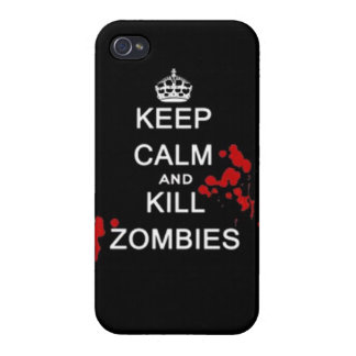 keep calm and kill zombies iPhone 4/4S cover