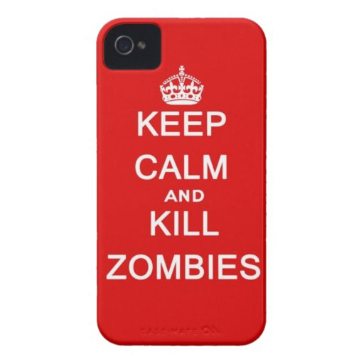 keep calm and kill zombies iPhone 4 case