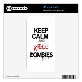 Keep Calm And Kill Zombies iPhone 4 Skin