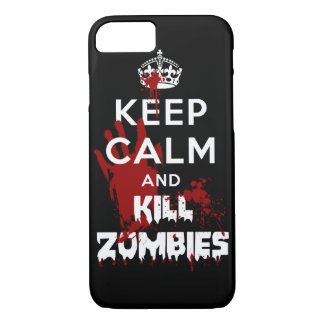 Keep Calm And Kill Zombies iPhone 7 case Black Cas
