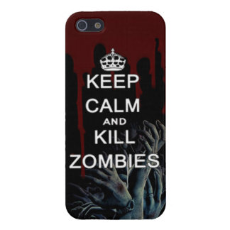 keep calm and kill zombies iPhone SE/5/5s case