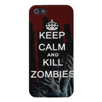 keep calm and kill zombies iPhone SE/5/5s cover