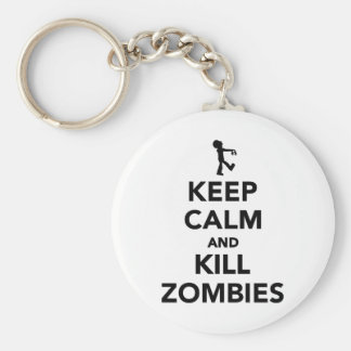 Keep calm and kill zombies key chains