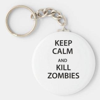 Keep Calm and Kill Zombies! Keychains