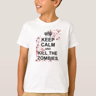 Keep Calm and Kill Zombies Kids Tee