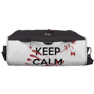 Keep Calm and Kill Zombies Laptop Computer Bag