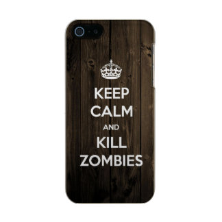 Keep calm and kill zombies metallic phone case for iPhone SE/5/5s