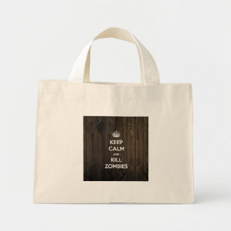 Keep calm and kill zombies mini tote bag