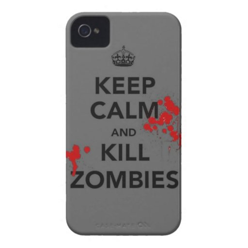 keep calm and kill zombies phone case Case-Mate iPhone 4 cases