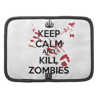 Keep Calm and Kill Zombies Folio Planners