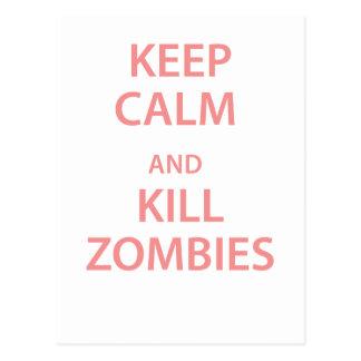 Keep Calm and Kill Zombies Postcards