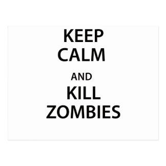 Keep Calm and Kill Zombies! Postcards