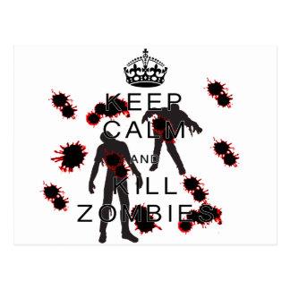 Keep Calm and Kill Zombies! Postcard