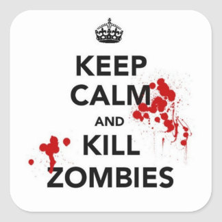 keep calm and kill zombies sticker