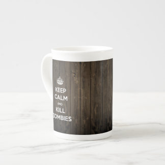 Keep calm and kill zombies tea cup