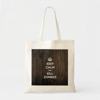 Keep calm and kill zombies tote bag