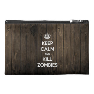 Keep calm and kill zombies travel accessory bags