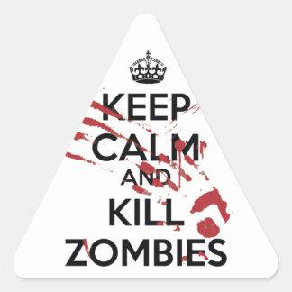 Keep Calm and Kill Zombies Triangle Sticker