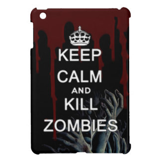 Keep calm and kill zombies walking dead undead fan iPad mini case
