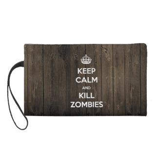 Keep calm and kill zombies wristlet