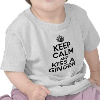 Keep calm and kiss a Ginger Tshirts