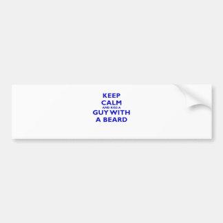 Keep Calm and Kiss a Guy with a Beard Bumper Sticker