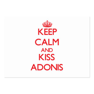 Keep Calm and Kiss Adonis Business Card Template