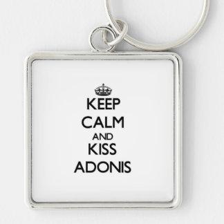 Keep Calm and Kiss Adonis Keychain