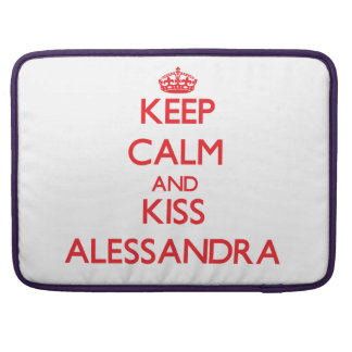 Keep Calm and Kiss Alessandra Sleeve For MacBook Pro