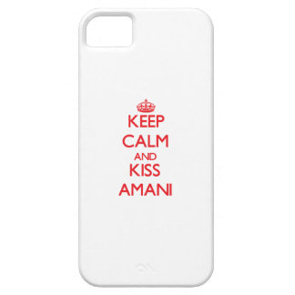 Keep Calm and Kiss Amani iPhone 5 Cases