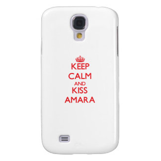 Keep Calm and kiss Amara Samsung Galaxy S4 Cases