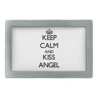 Keep Calm and Kiss Angel Belt Buckles
