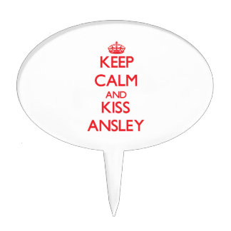 Keep Calm and Kiss Ansley Cake Toppers