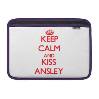 Keep Calm and kiss Ansley Sleeves For MacBook Air