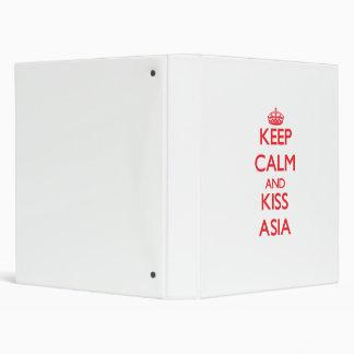 Keep Calm and kiss Asia Vinyl Binder
