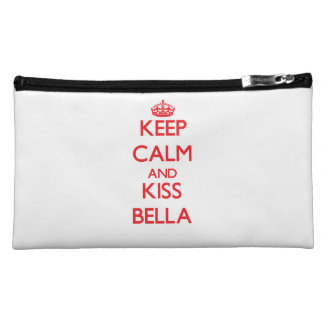 Keep Calm and Kiss Bella Cosmetic Bag