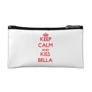 Keep Calm and Kiss Bella Cosmetic Bags