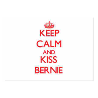 Keep Calm and Kiss Bernie Large Business Cards (Pack Of 100)