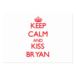 Keep Calm and Kiss Bryan Large Business Cards (Pack Of 100)