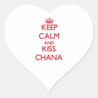 Keep Calm and kiss Chana Heart Sticker